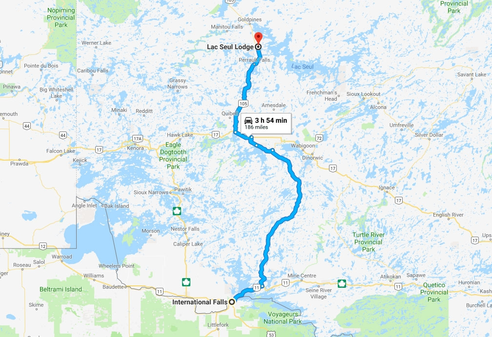 How To Reach Lac Seul Lodge - International Falls, MN