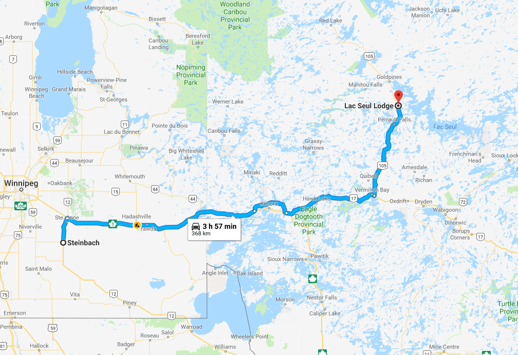 How To Reach Lac Seul Lodge - Steinbach, MB