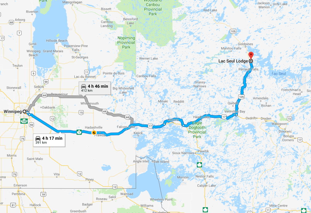 Lac Seul Canada Map Map & Directions to Lac Seul Lodge